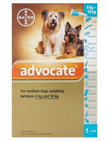 Advantix de Bayer Perros 2.5ml para perritos de 10 a 25 kg